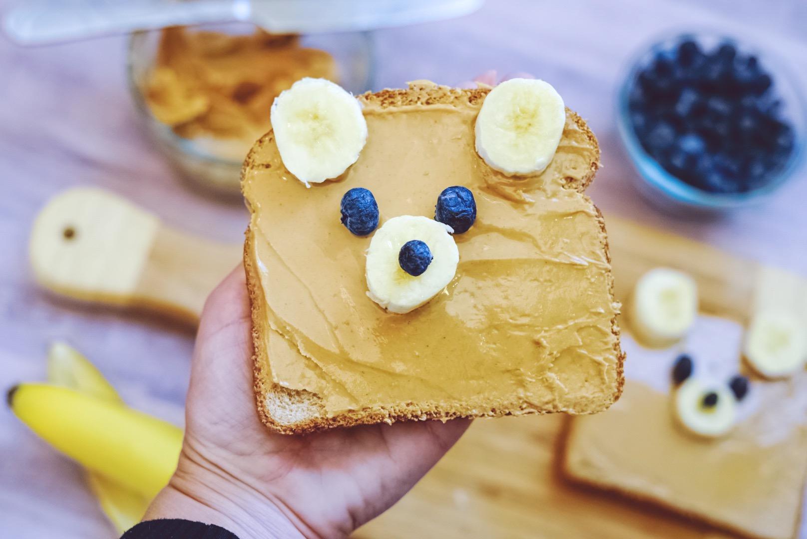 Cute Teddy Bear Toast