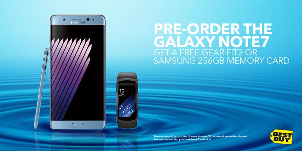 preorder Samsung Galaxy Note 7