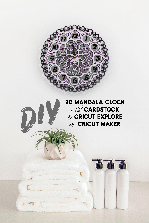 DIY 3D Layered Mandala Clock