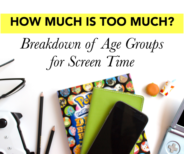 How Much is Too Much? Fact Sheet – Breakdown of Age Groups for Screen Time