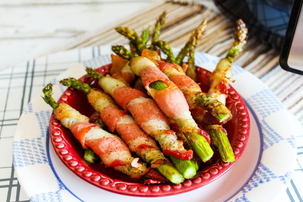 Air Fryer Bacon Wrap Asparagus