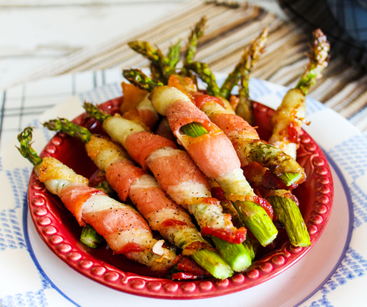 """Crispy Bacon Wrapped Asparagus"" 4-Ingredient Air Fryer Recipe!"