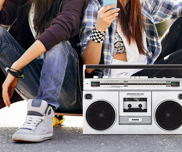 Relive Your Fondest Memories with the ION Audio Street Rocker '80s Style Stereo Boombox Speaker