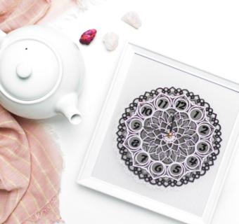 DIY 3D Layered Mandala Clock with Card Stock and Cricut