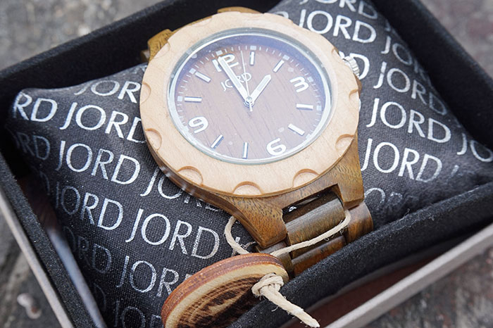 Jord Wood Watch  Sully Series Natural Green