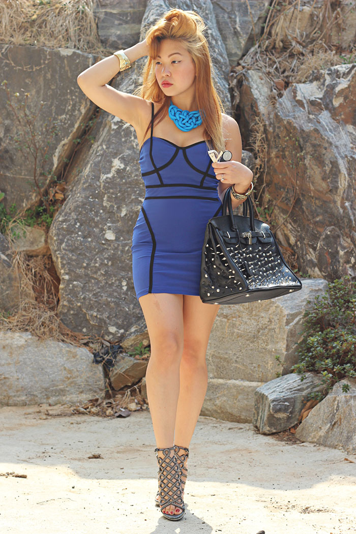 bodycon fashion blogger dress