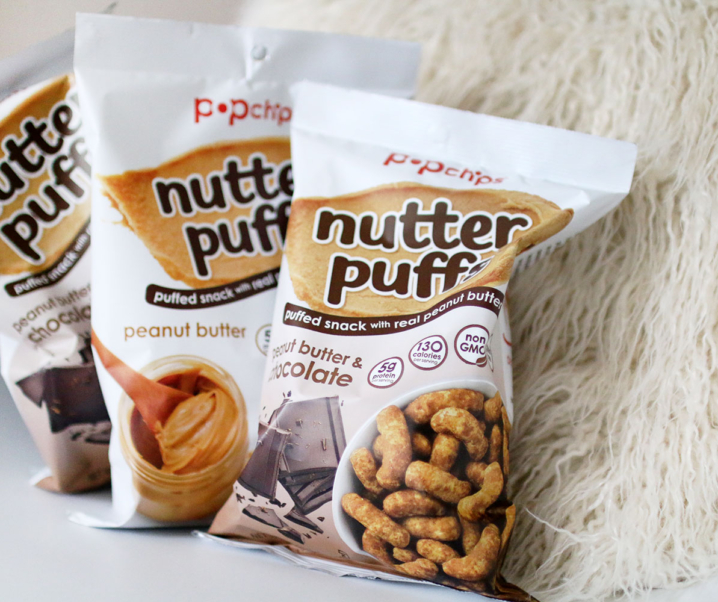 Nutter Puffs by Popchips made with REAL peanut butter