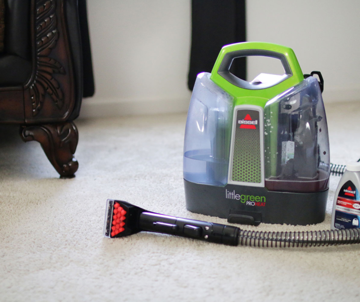 Deep Clean with Bissell Little Green ProHeat Portable Deep Cleaner