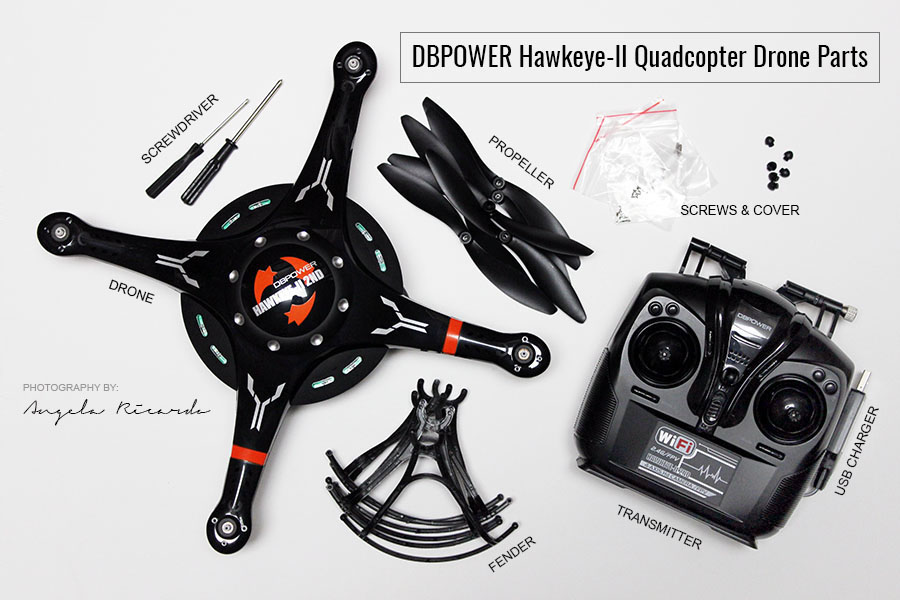 DBPOWER Hawkeye-II Quadcopter Drone Parts