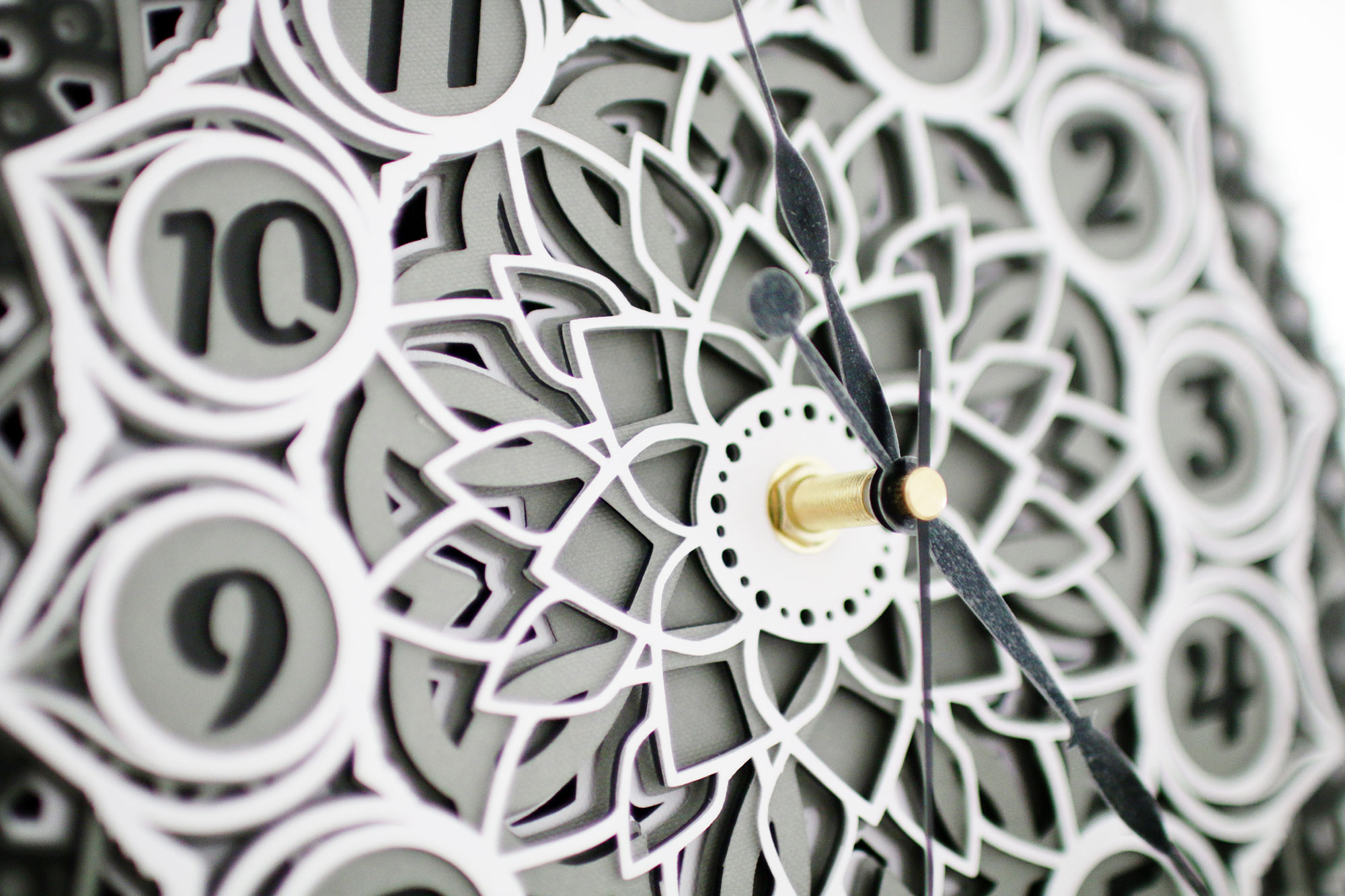 DIY 3D Layered Mandala Clock