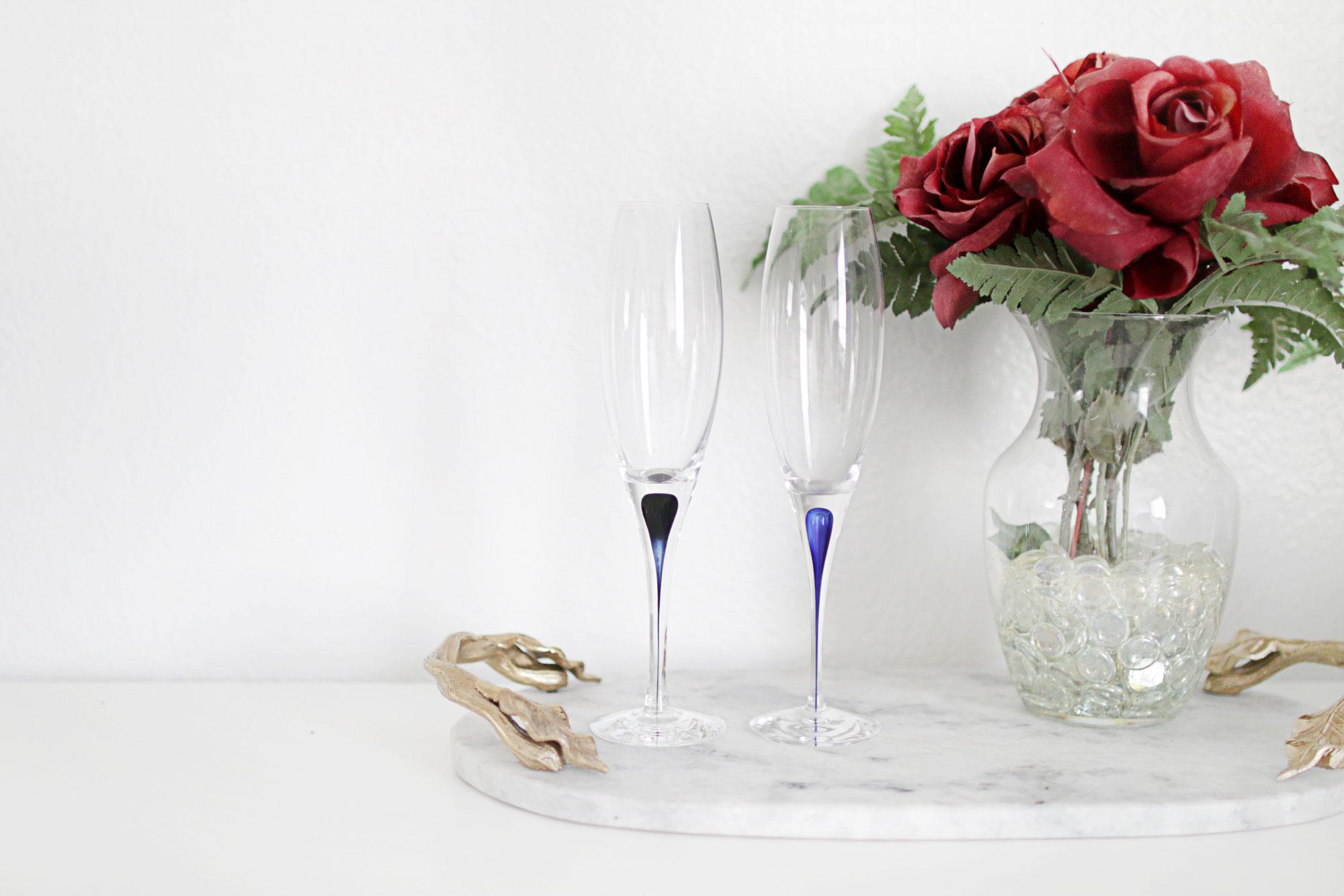 Fluted Champagne Intermezzo Blue