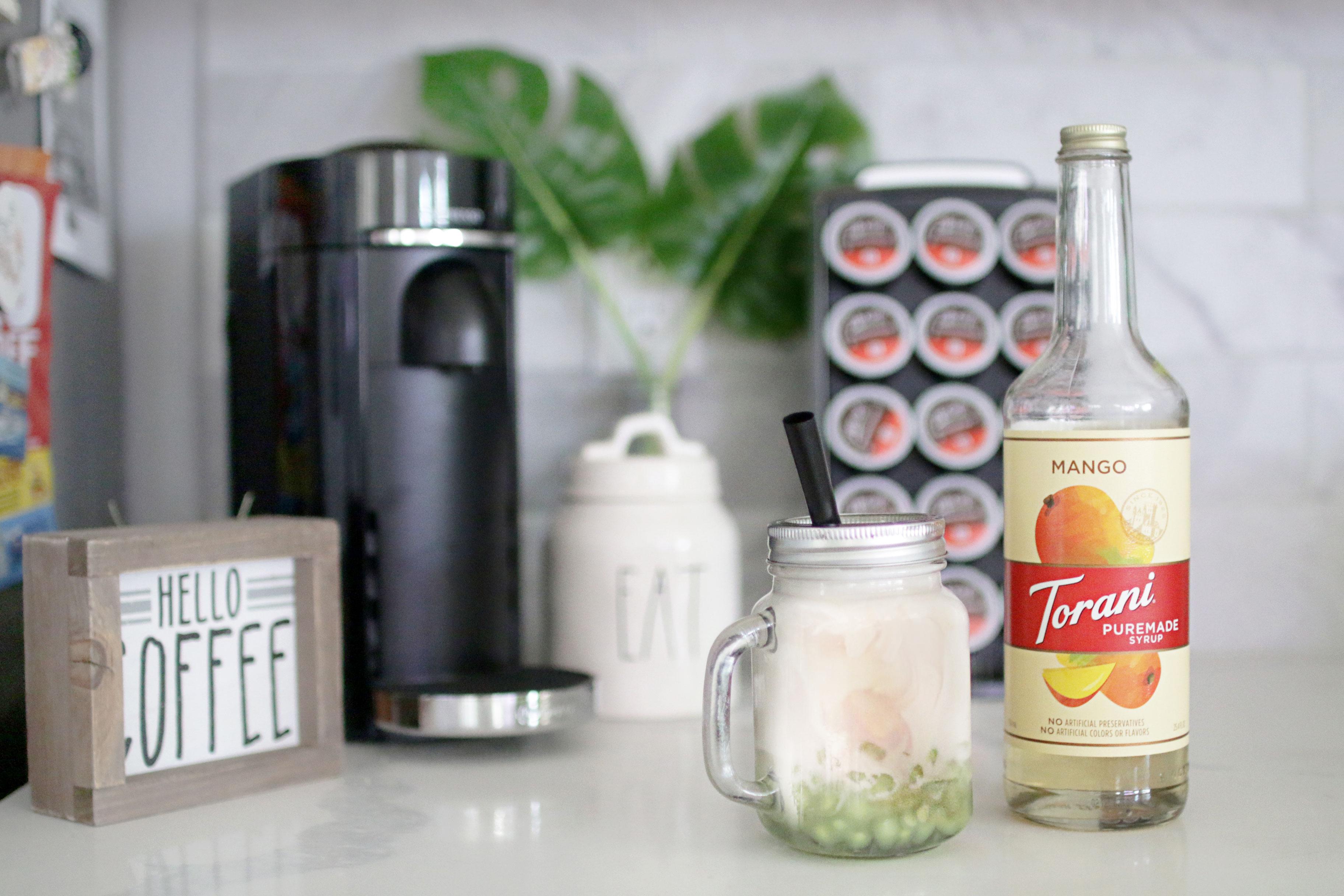 Torani Puremade Mango Syrup Boba Milk Tea