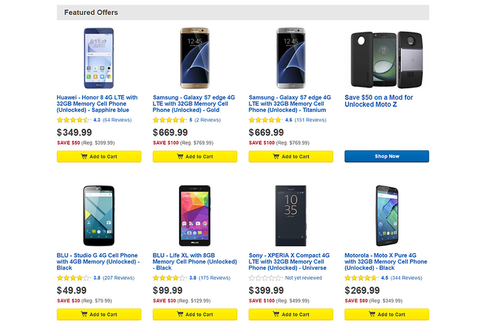 Best Buy Unlocked Smartphone Savings Event