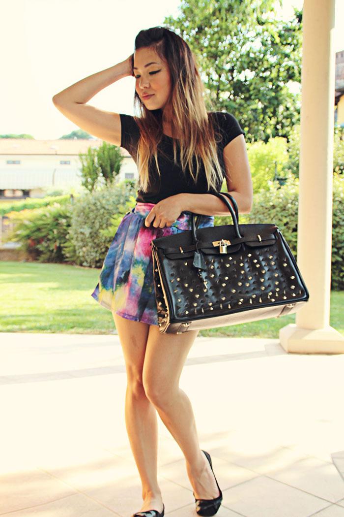 lady gaga hermes bag purse handbag spikes