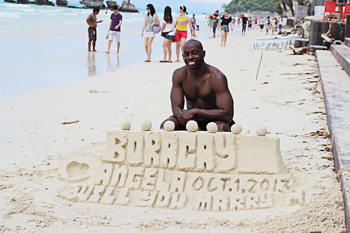 boracay island engagement proposal engaged derek bethea kingderek king derek