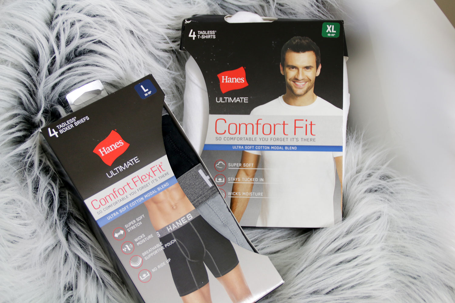 Hanes Crewneck Undershirt and Boxer Briefs