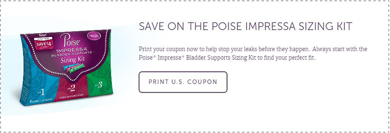 Poise Impressa Coupon