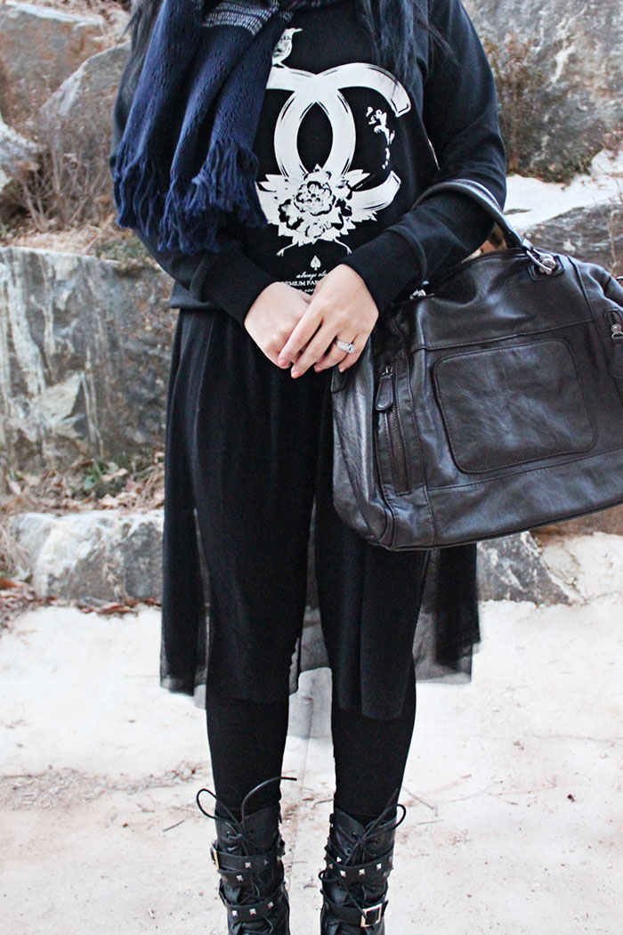 black winter fashion