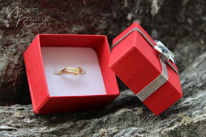 Jewellery World 9ct Gold Heart Wishbone Ring