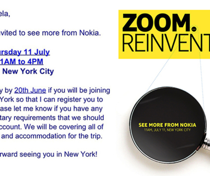 Nokia Zoom Reinvented Event Invite