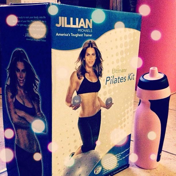 Jillian Michaels Pilates workout dvd nike water bottle