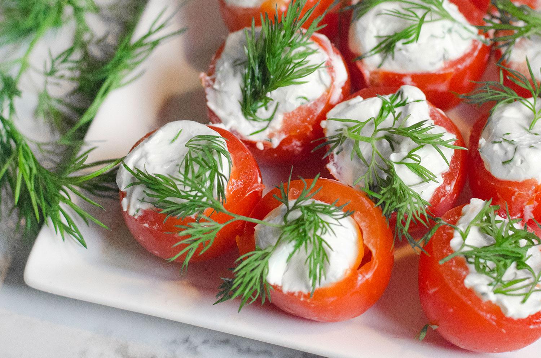 Creamy Lemon Dill Tomato Bites