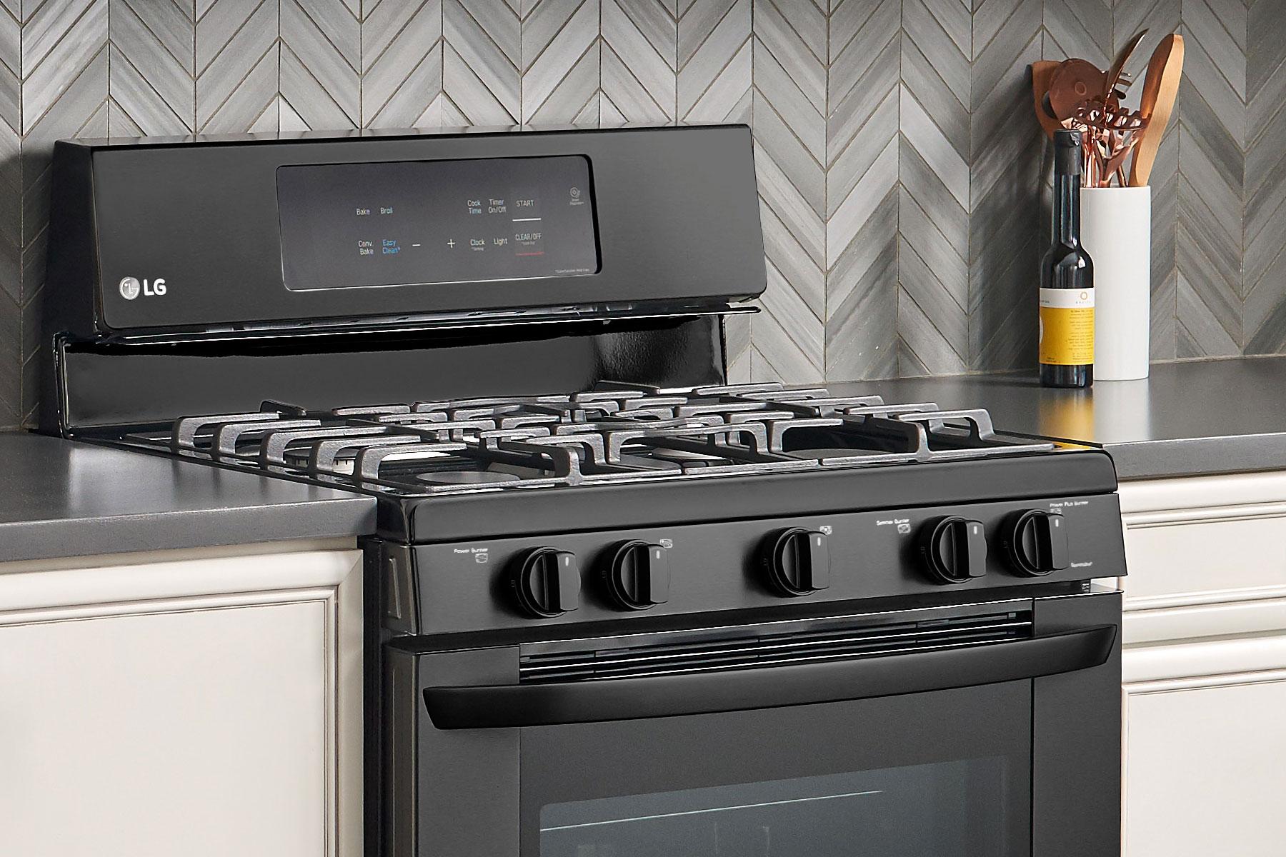 LG Matte Black Oven
