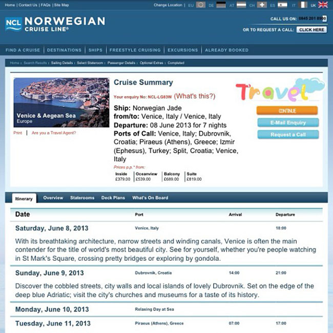 Birthday Norwegian Cruise Line