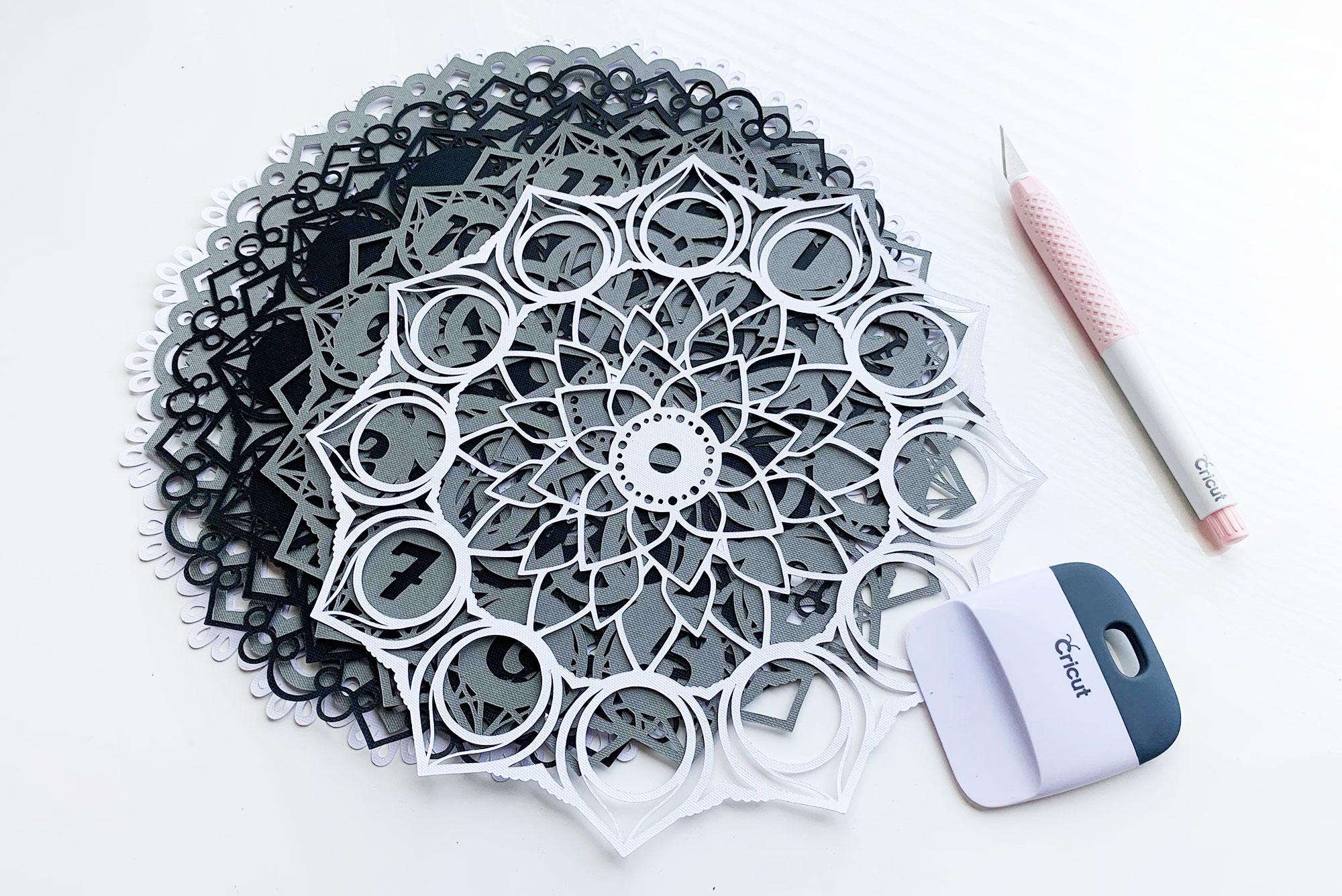 Cricut Layered Mandala Clock Tutorial