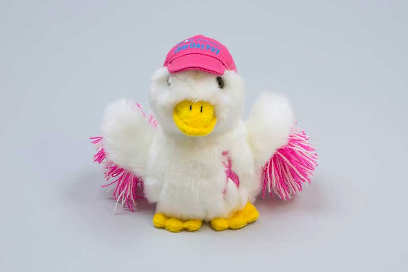 Aflac this duck wears pink