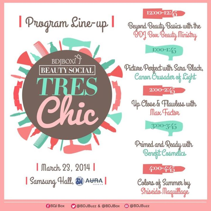 BDJ Box Beauty Social: Tres Chic on March 23, 2014!