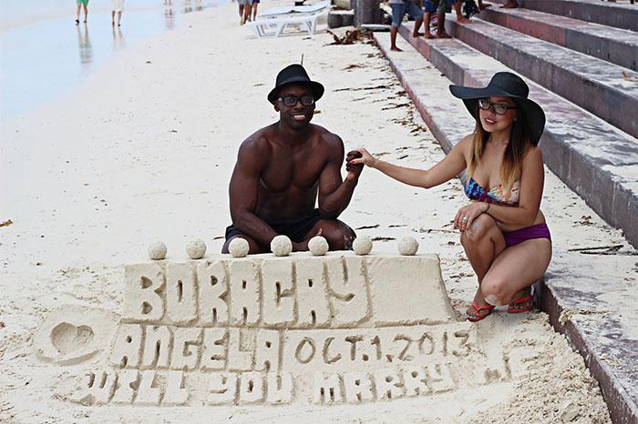 boracay island engagement proposal engaged