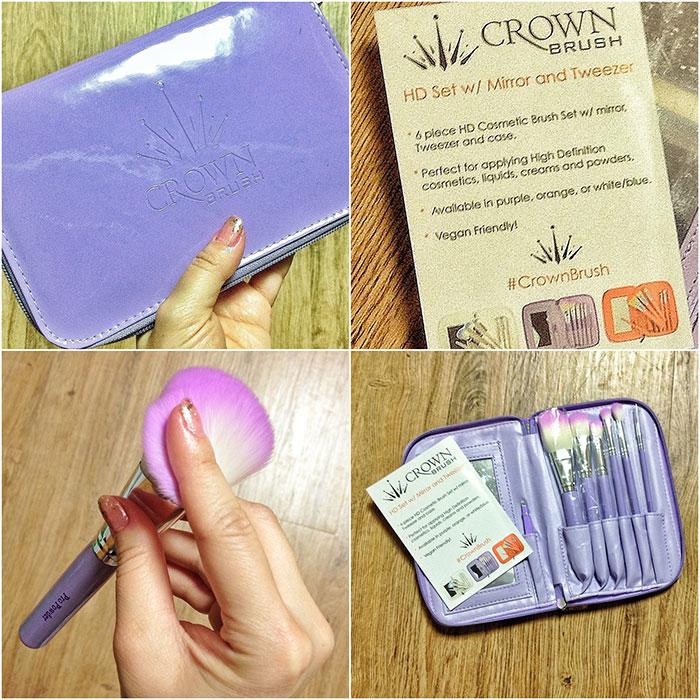 Crown Brush HD Set with Mirror & Tweezer