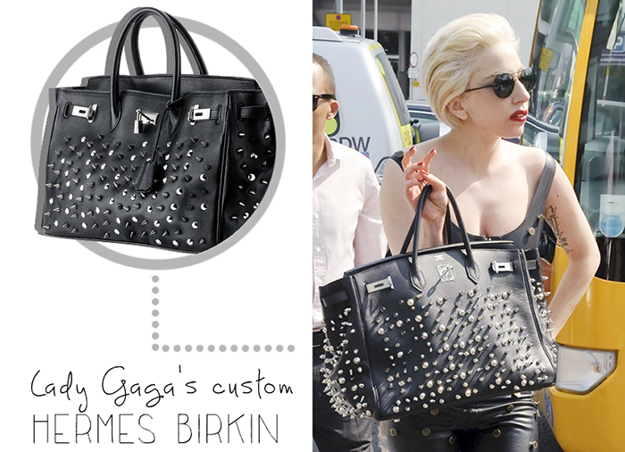 Lady Gaga Custom Studded Black Bag
