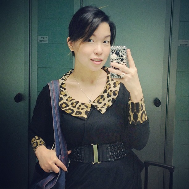 new york outfit leopard dress