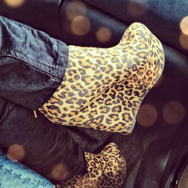 new york outfit leopard heels