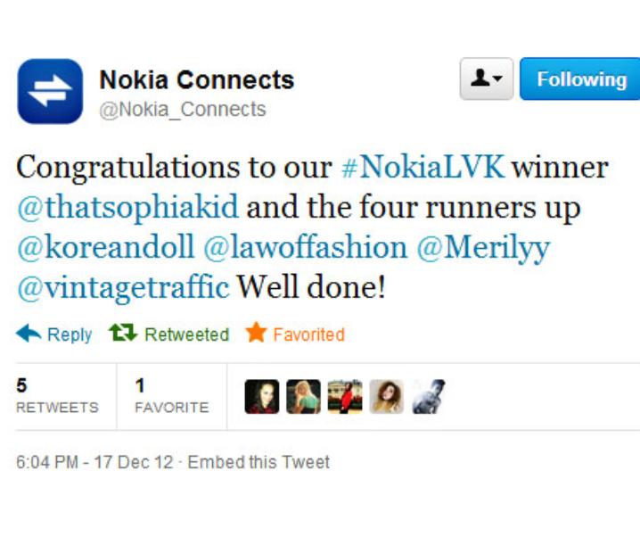 Nokia LeiVanKash Winner + Surprise Goodie