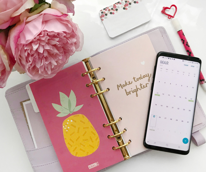 Tips to Stay Organized Using the Samsung Galaxy S9+ (From a New Mom's Perspective)