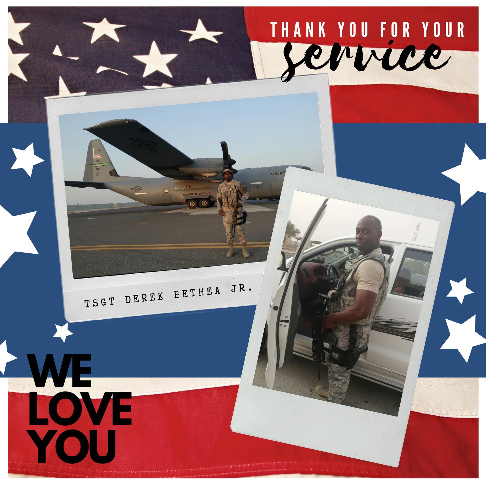 derek bethea, air force, veteran, military